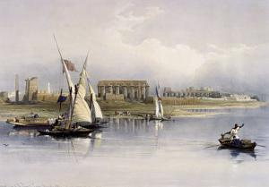 General View of the Ruins of Luxor, from the Nile by David Roberts