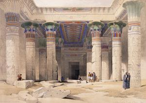 Grand Portico of the Temple of Philae - Nubia, 1842-1849 by David Roberts