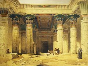 Great Gate of Temple of Isis, Island of Philae in Upper Egypt, Lithograph, 1838-9 by David Roberts