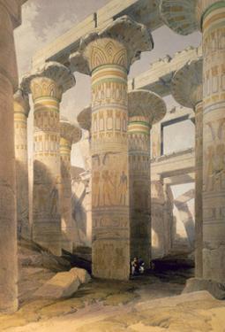 Hall of Columns, Karnak, Egypt, 19th century by David Roberts