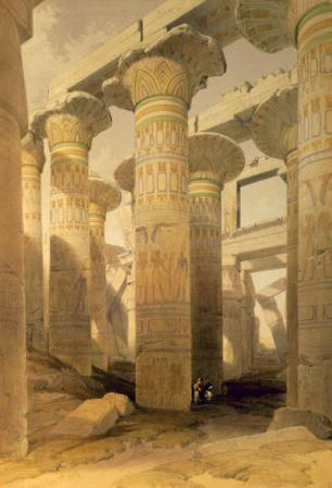 Hall of Columns, Karnak, from Egypt and Nubia, Vol.1 by David Roberts
