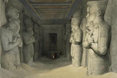 Interior of the Great Temple of Abu Simbel, Nubia by David Roberts