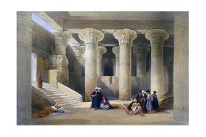 Interior of the Temple at Esna, Upper Egypt, 1838 by David Roberts