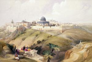 "Jerusalem, April 9th 1839, Plate 16 from Volume I of ""The Holy Land"" by David Roberts"