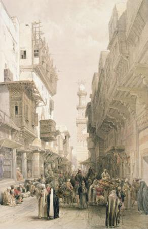 "Mosque El Mooristan, Cairo, from ""Egypt and Nubia"", Vol.3 by David Roberts"