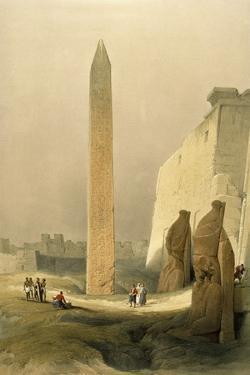 Obelisk at Luxor by David Roberts
