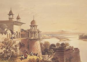 Palace and Fort at Agra by David Roberts