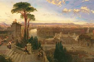 Rome, Twilight, View from the Convent of San Onofrio on Mount Janiculum, C.1853-55 by David Roberts