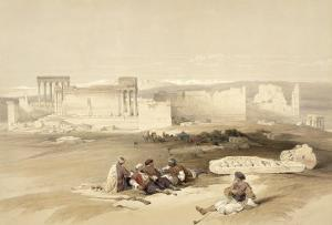 Ruins of Baalbec, May 5th 1839, Plate 77 from Volume II of 'The Holy Land', Engraved by Louis Haghe by David Roberts