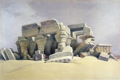 Ruins of the Temple of Kom Ombo, 19th Century by David Roberts
