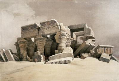 Ruins of the Temple of Kom-Ombo, Upper Egypt by David Roberts