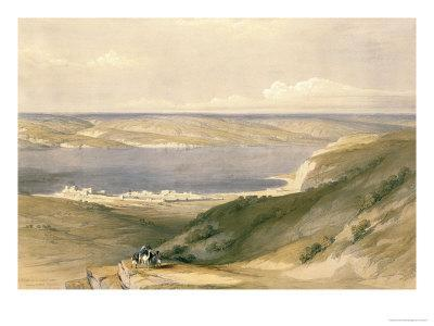 Sea of Galilee or Genezareth, Looking Towards Bashan, April 21st 1839, Pub. 1842