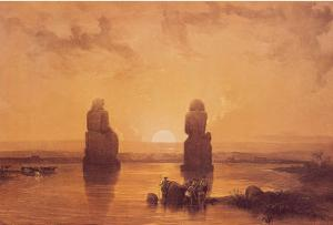 Statues of Memnon at Thebes by David Roberts