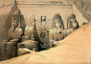 Temple of Abou Simbel by David Roberts