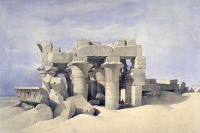 Temple of Sobek and Haroeris at Kom Ombo, 19th Century by David Roberts