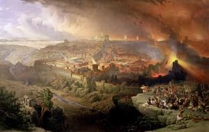 The Destruction of Jerusalem in 70 AD by David Roberts