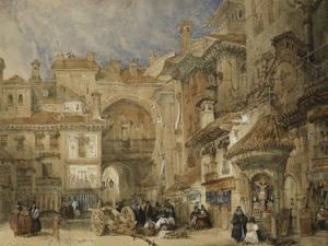 The Gate of the Viva Rambla, Granada, 1834 by David Roberts