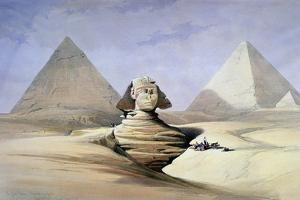 The Great Sphinx and Pyramids at Giza, 1838-1839 by David Roberts