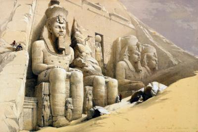 "The Great Temple of Abu Simbel, Nubia, from ""Egypt and Nubia,"" Vol.1 by David Roberts"