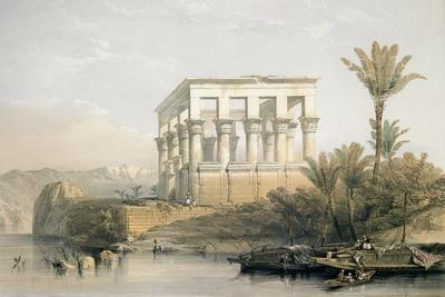 The Hypaethral Temple at Philae, Called the Bed of Pharaoh, Engraved by Louis Haghe, Pub. in 1843