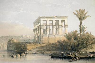 The Hypaethral Temple at Philae, Called the Bed of Pharaoh, Engraved by Louis Haghe, Pub. in 1843 by David Roberts