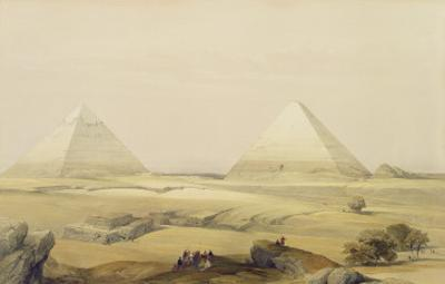"The Pyramids of Giza, from ""Egypt and Nubia"", Vol.1 by David Roberts"