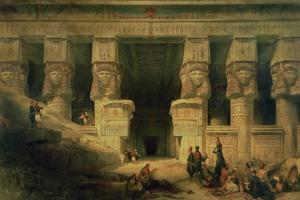 The Temple of Dendera, Upper Egypt, 1841 by David Roberts