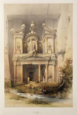 The Treasury - El Khasne, from 'The Holy Land' Series, 1842-1849 by David Roberts