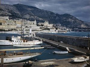 View of Harbor and Breakwater of Monte Carlo by David S. Boyer