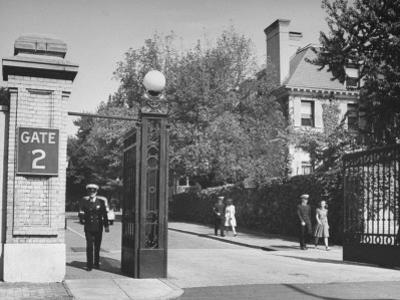 A View of a Gate Entrance to the Annapolis Naval Academy by David Scherman