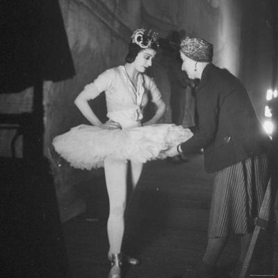 Ballerina Margot Fonteyn Standing in Wings Prepares for Reopening Covent Garden Royal Opera House by David Scherman