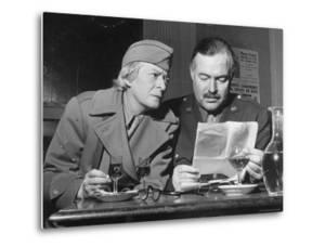 Ernest Hemingway and Janet Flanner by David Scherman