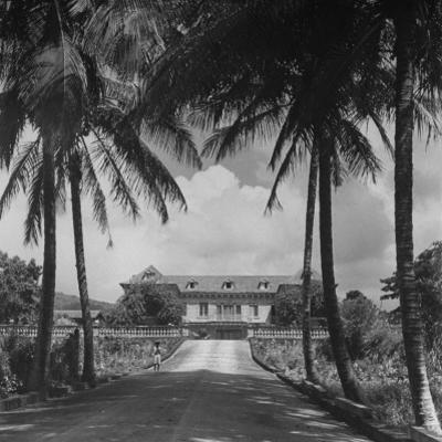 Exterior of Mansion on the Island of Martinique by David Scherman