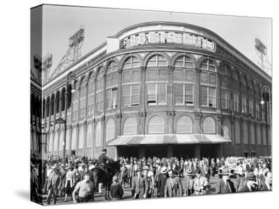 Fans Leaving Ebbets Field after Brooklyn Dodgers Game. June, 1939 Brooklyn, New York by David Scherman