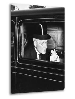 John D. Rockefeller Arriving at Garden Party to Welcome the King and Queen of England to Capital by David Scherman