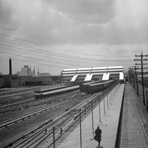 Long Island Railroad Station at the World's Fair by David Scherman