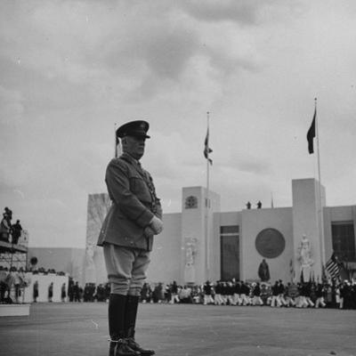 Major General William N. Haskell, During the Opening Ceremonies at the New York World's Fair by David Scherman