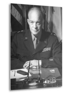 Supreme Allied Commander Gen. Dwight D. Eisenhower, Posing for the Cover of Life Magazine by David Scherman