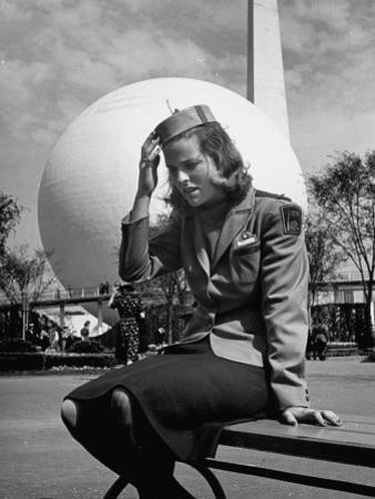 Tour Guide at the New York World's Fair, Taking a Rest after a Long Day's Work by David Scherman