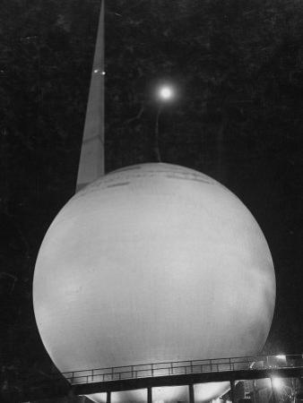Trylon and Perisphere, the New York World's Fair's Focal Point, Flushing Meadows, New York by David Scherman