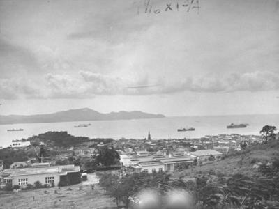 View of Harbor from Island of Martinique by David Scherman