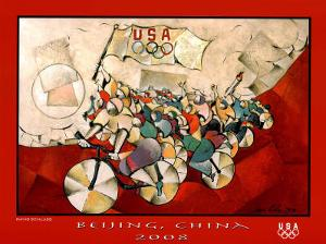 We Are the Champions Cycling Beijng 2008 Olympics by David Schluss
