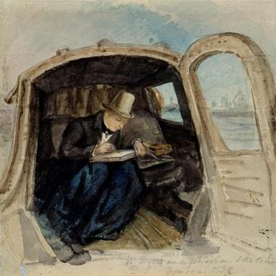 William Dyce (1806-64) in a Gondola Sketching in Venice, 1832