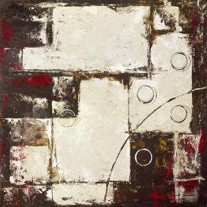 Circles on Brown and Beige II by David Sedalia