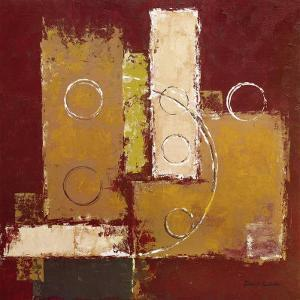 Circles on Red and Brown I by David Sedalia