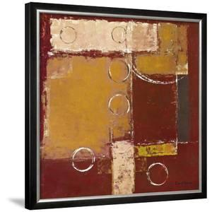 Circles on Red and Brown II by David Sedalia