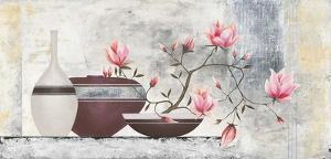 Pink Magnolias I by David Sedalia