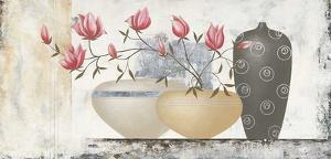 Pink Magnolias II by David Sedalia