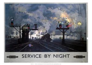 Service by Night, BR, c.1955 by David Shepard