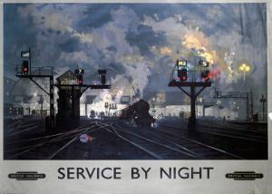 Service by Night, BR, c.1955 by David Shepard